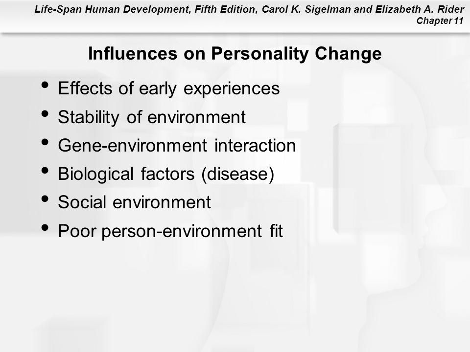 Influences on Personality Change