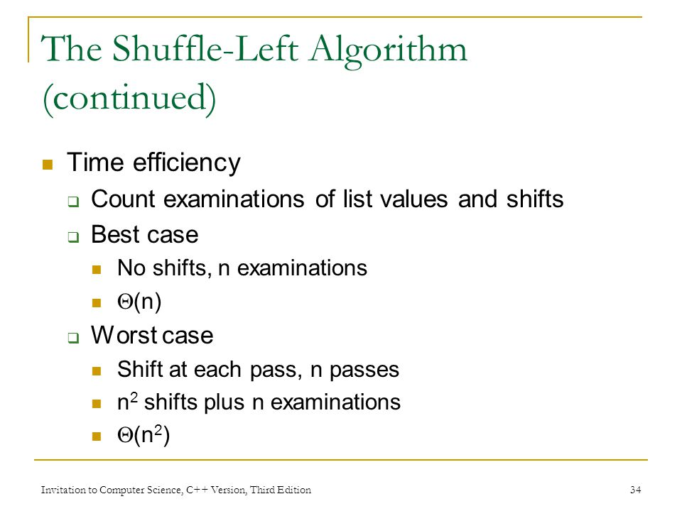 Chapter 3: The Efficiency of Algorithms - ppt video online