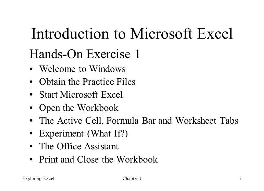 Exploring Microsoft Excel Ppt Video Online Download