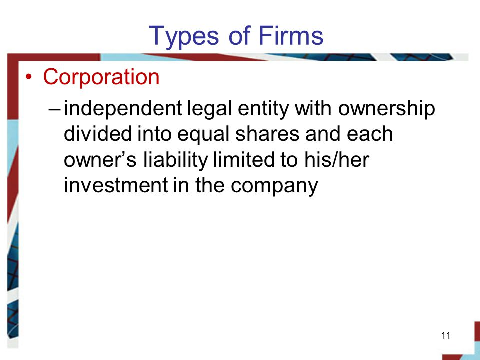 Types of Firms Corporation