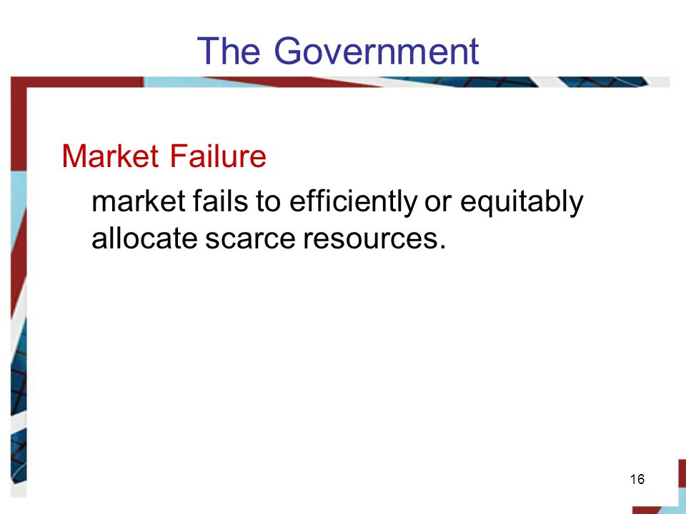 The Government Market Failure