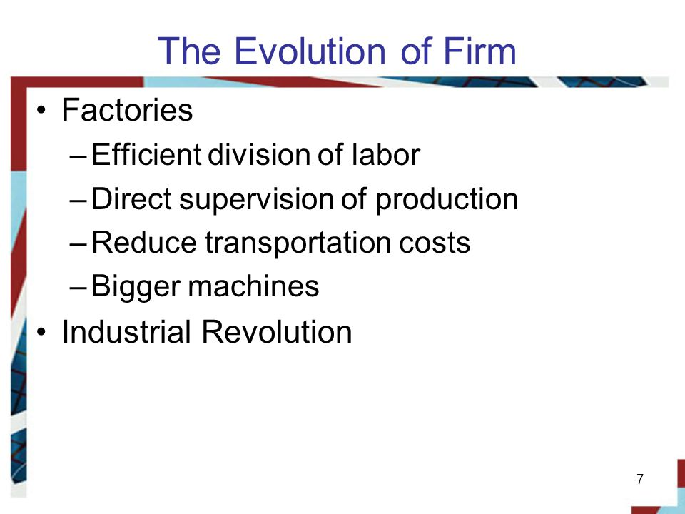 The Evolution of Firm Factories Industrial Revolution