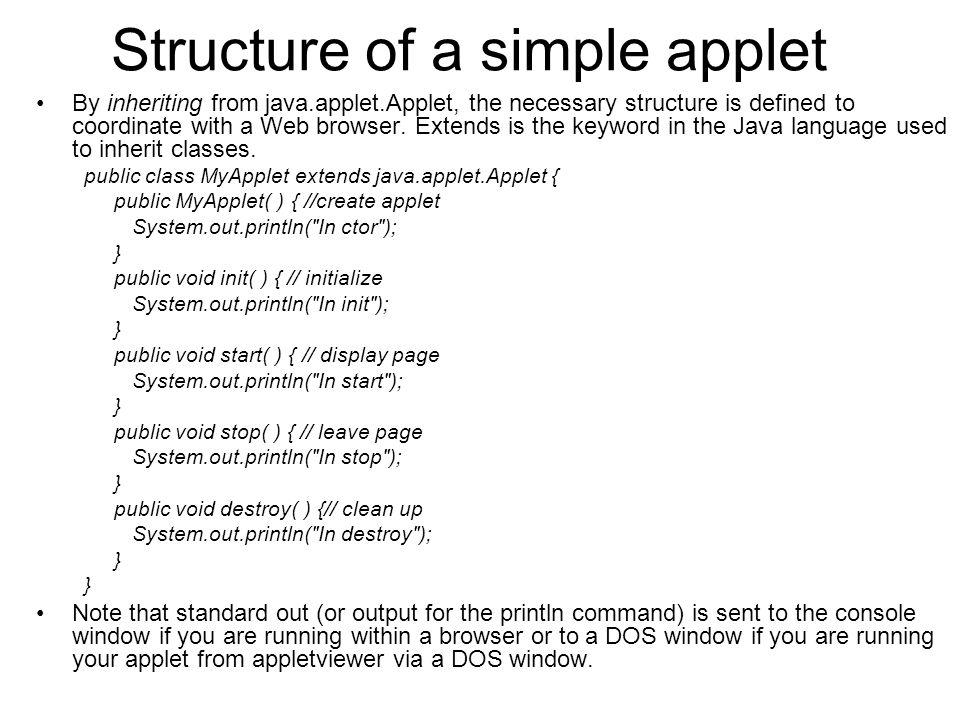 6. Applet programming in java.