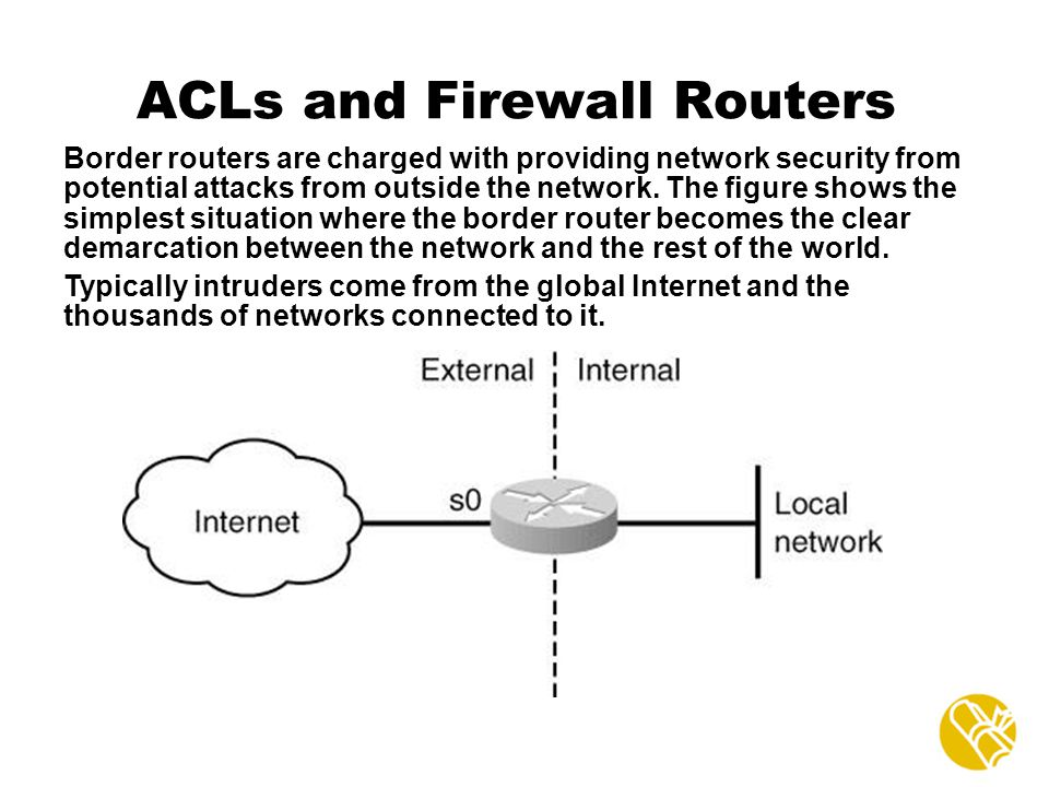 ACLs and Firewall Routers