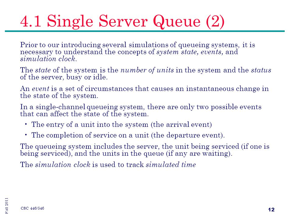 Two Server Queue Simulation