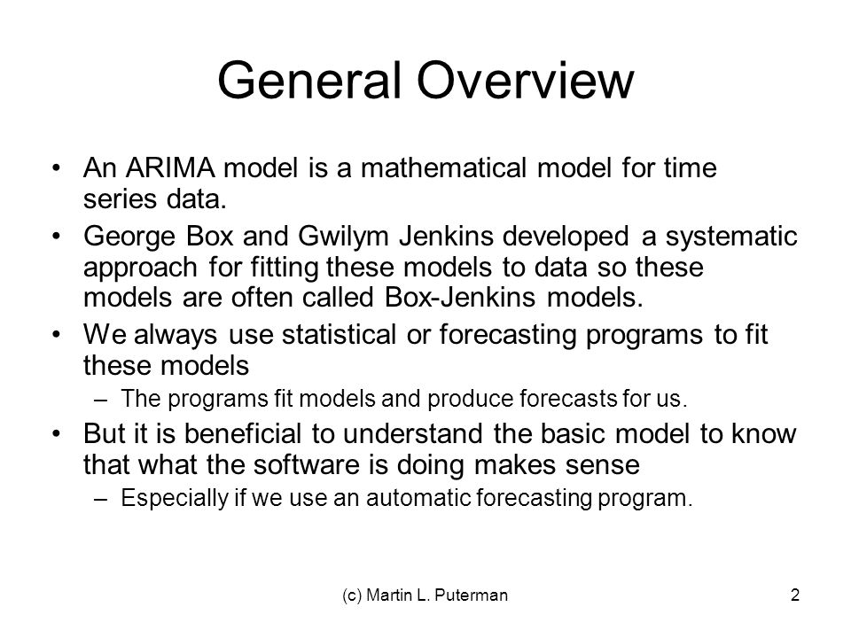 ARIMA Forecasting Lecture 7 and 8 - March 14-16, ppt video