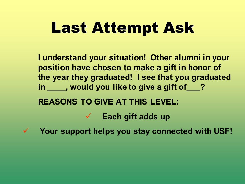 Your support helps you stay connected with USF!