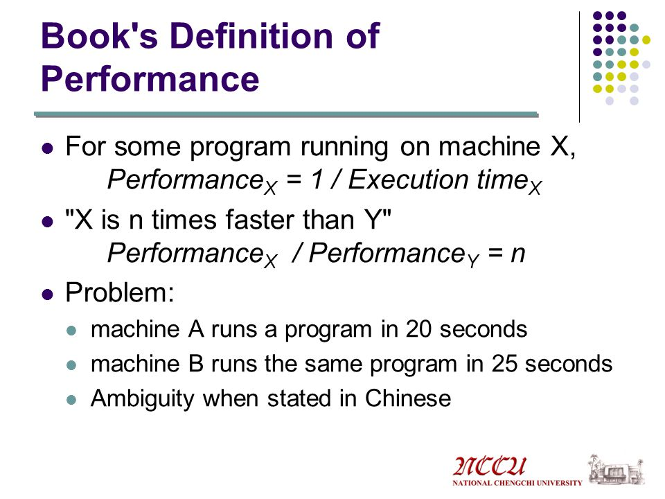 Book s Definition of Performance