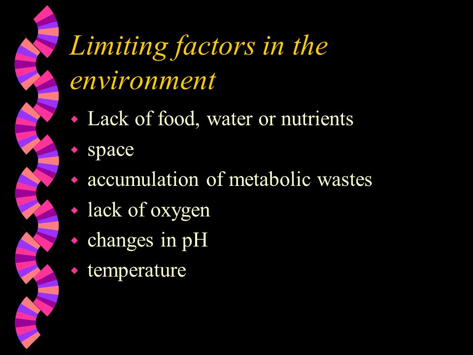 Limiting factors in the environment