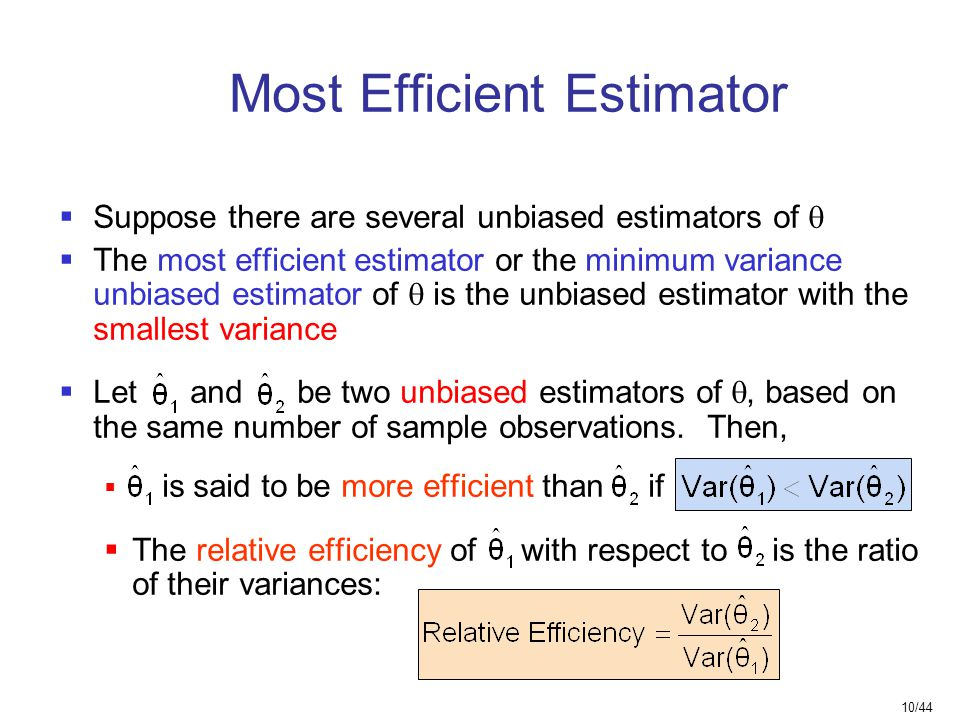 Most Efficient Estimator