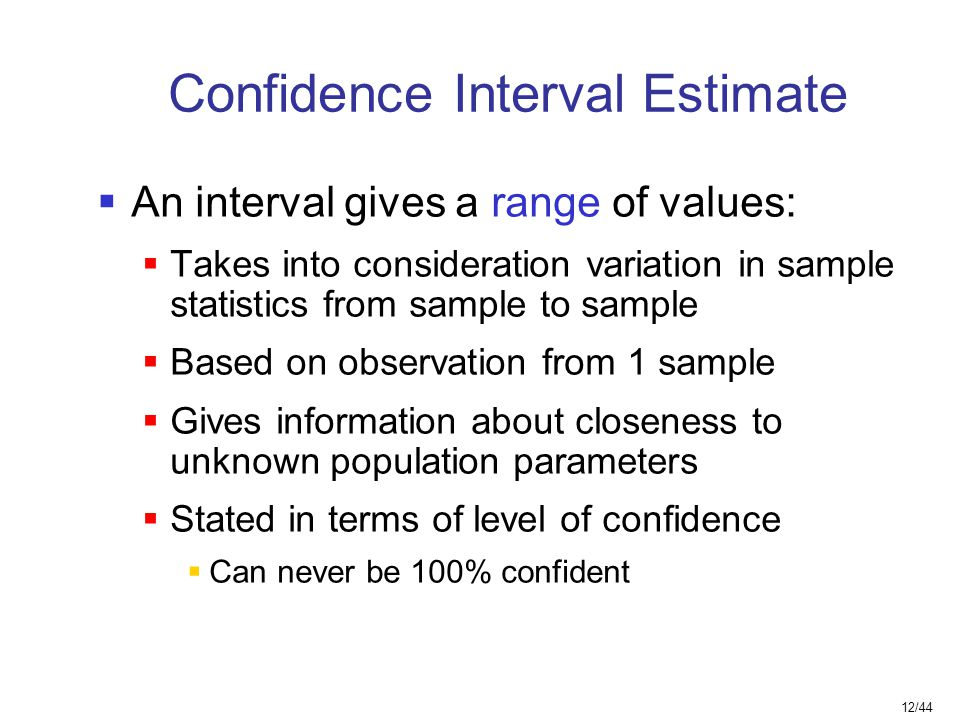 Confidence Interval Estimate