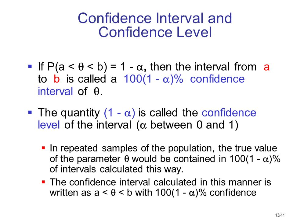 Confidence Interval and Confidence Level