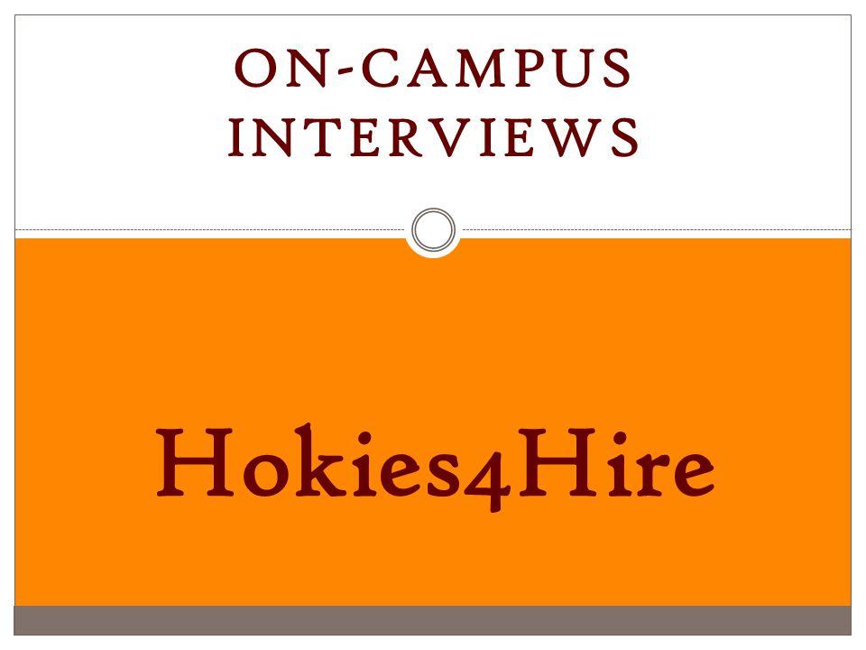 1 On Campus Interviews Hokies4Hire