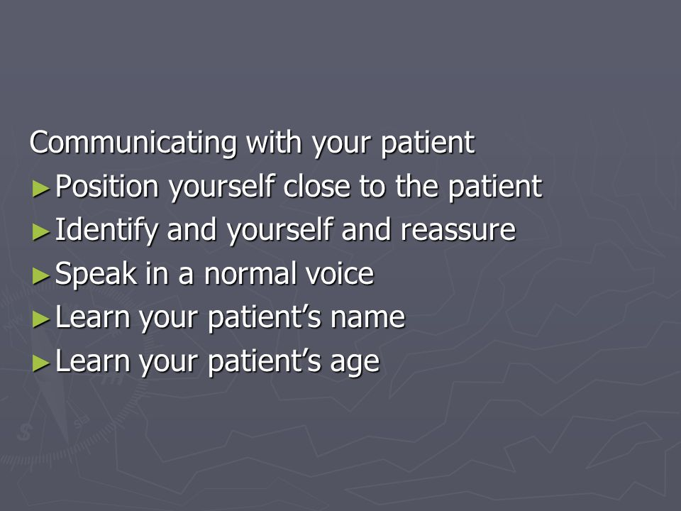 Communicating with your patient