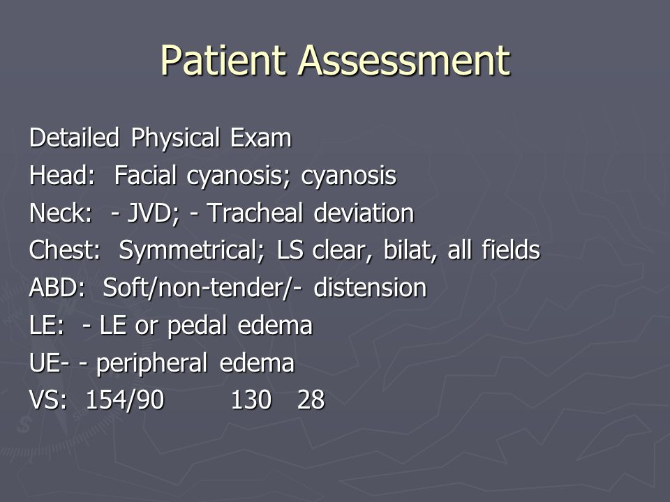 Patient Assessment Detailed Physical Exam