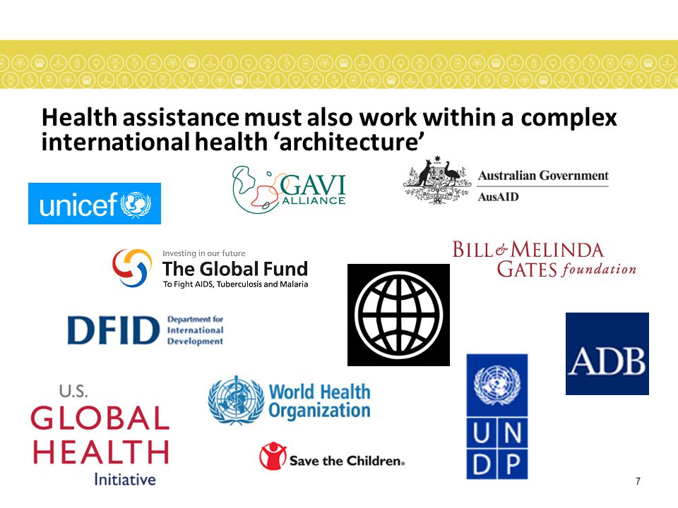 Health assistance must also work within a complex international health 'architecture'