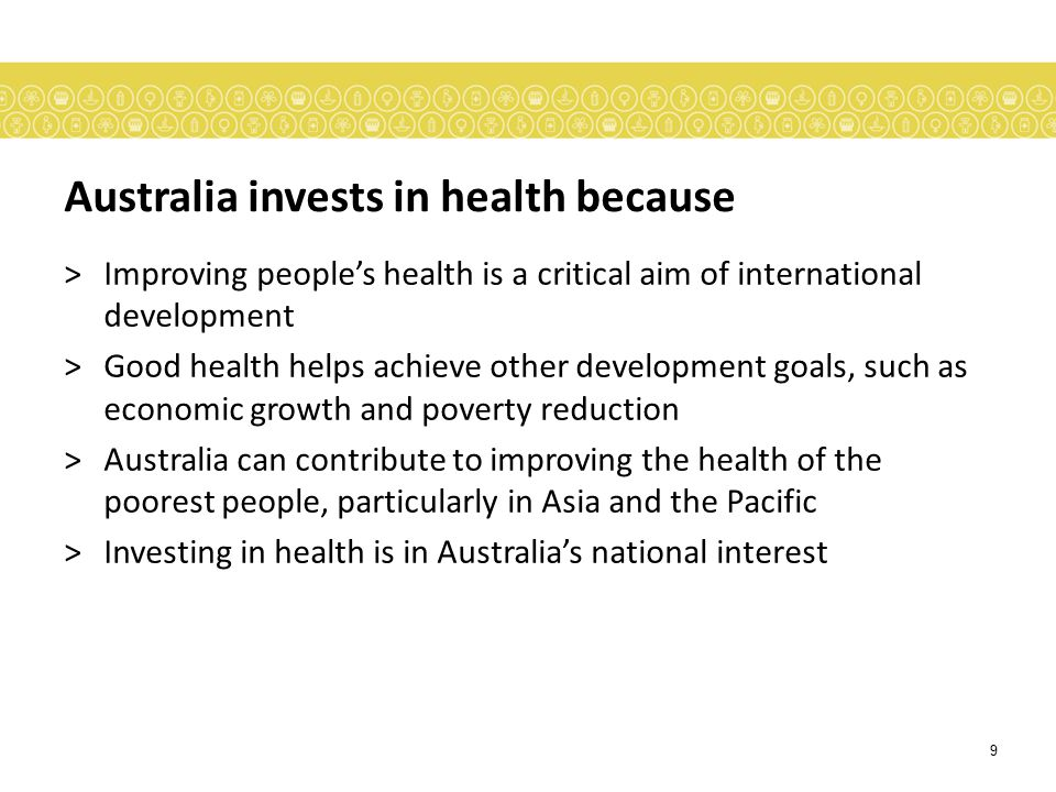 Australia invests in health because