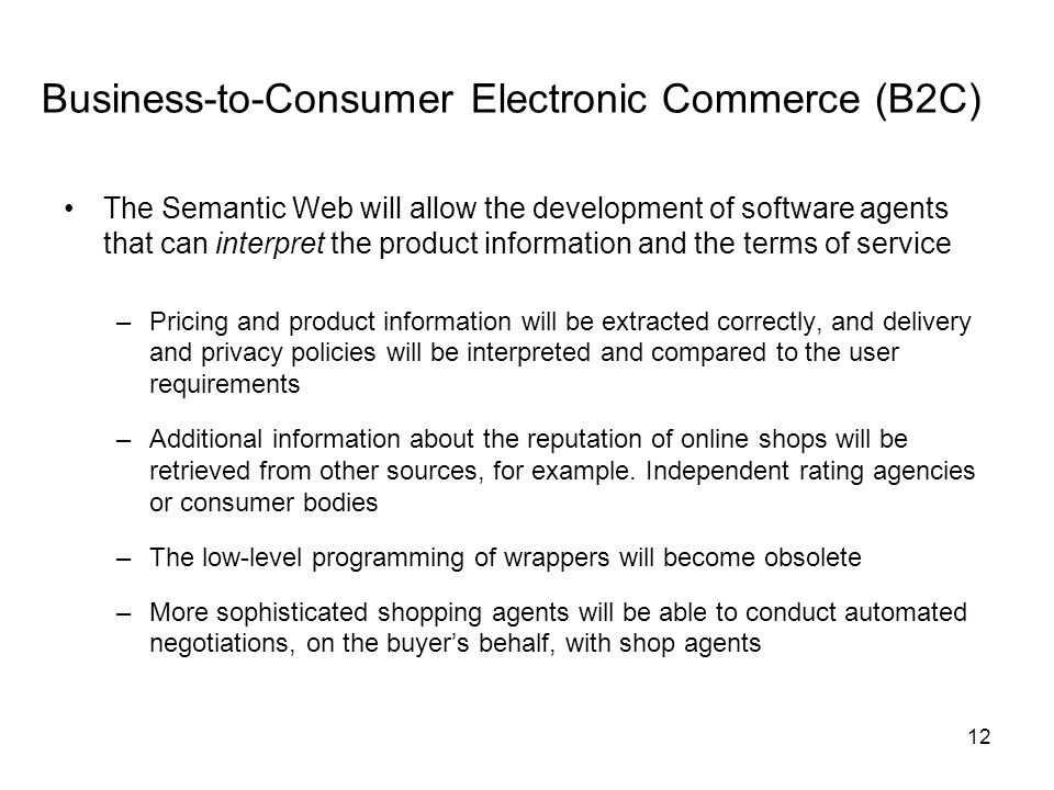 Business-to-Consumer Electronic Commerce (B2C)
