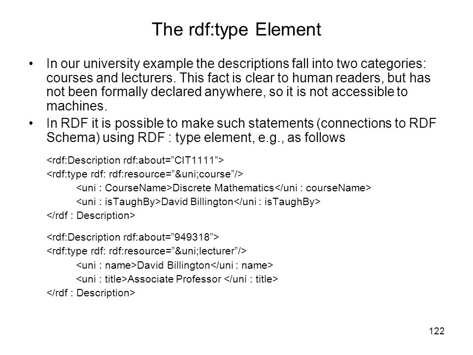 The rdf:type Element