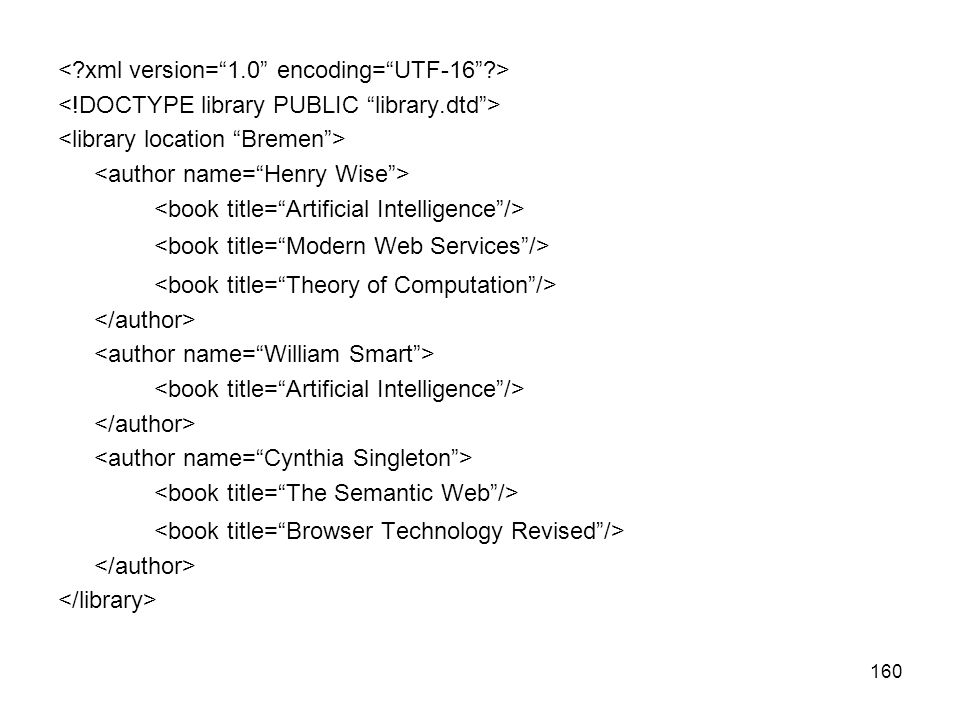 <book title= Modern Web Services />