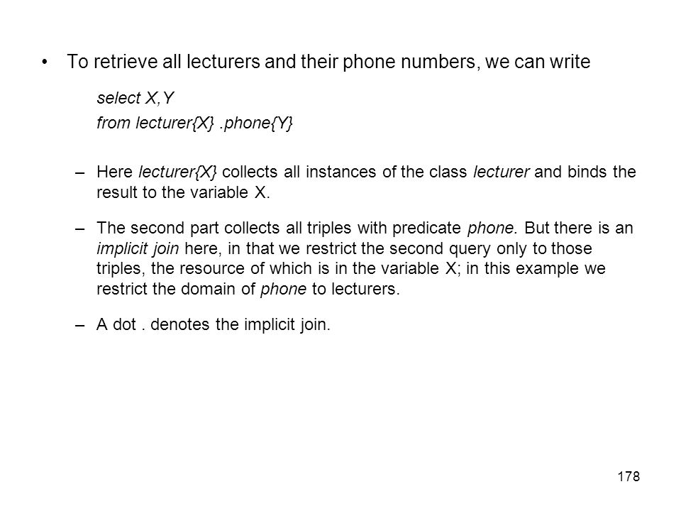 To retrieve all lecturers and their phone numbers, we can write