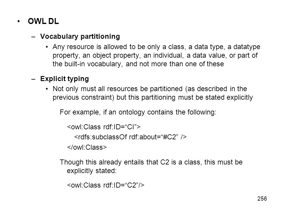 OWL DL Vocabulary partitioning