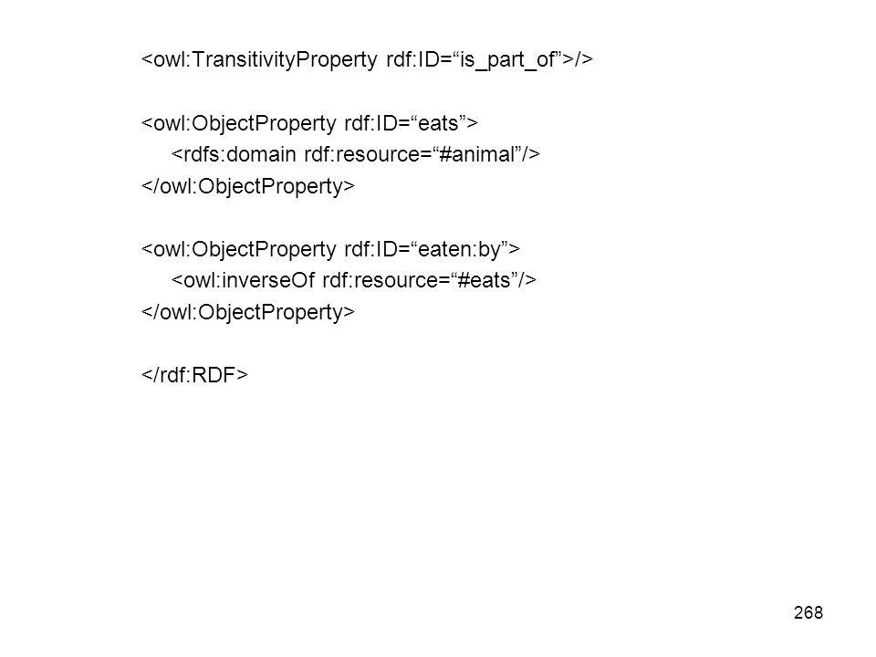 <owl:TransitivityProperty rdf:ID= is_part_of >/>