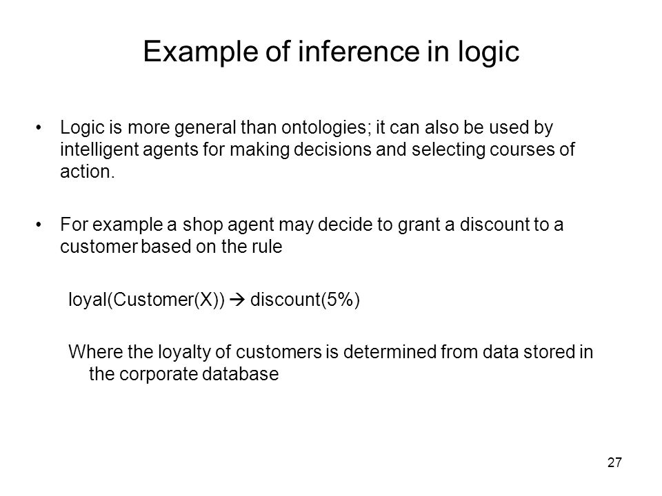 Example of inference in logic