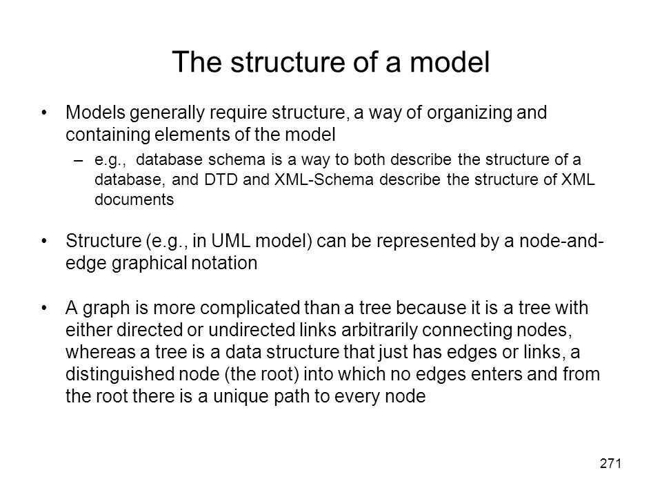 The structure of a model