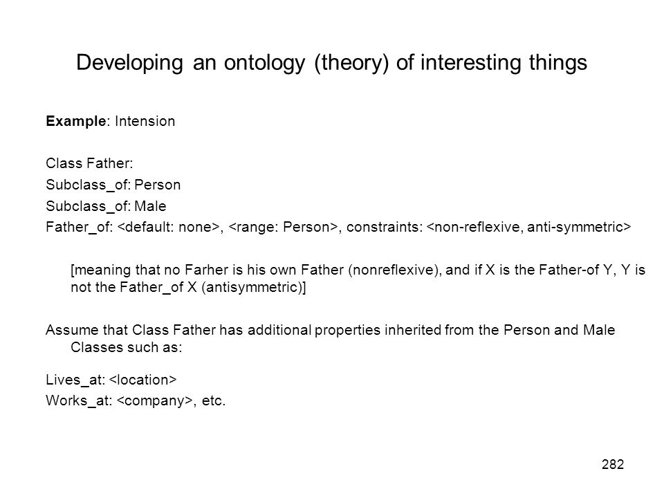 Developing an ontology (theory) of interesting things