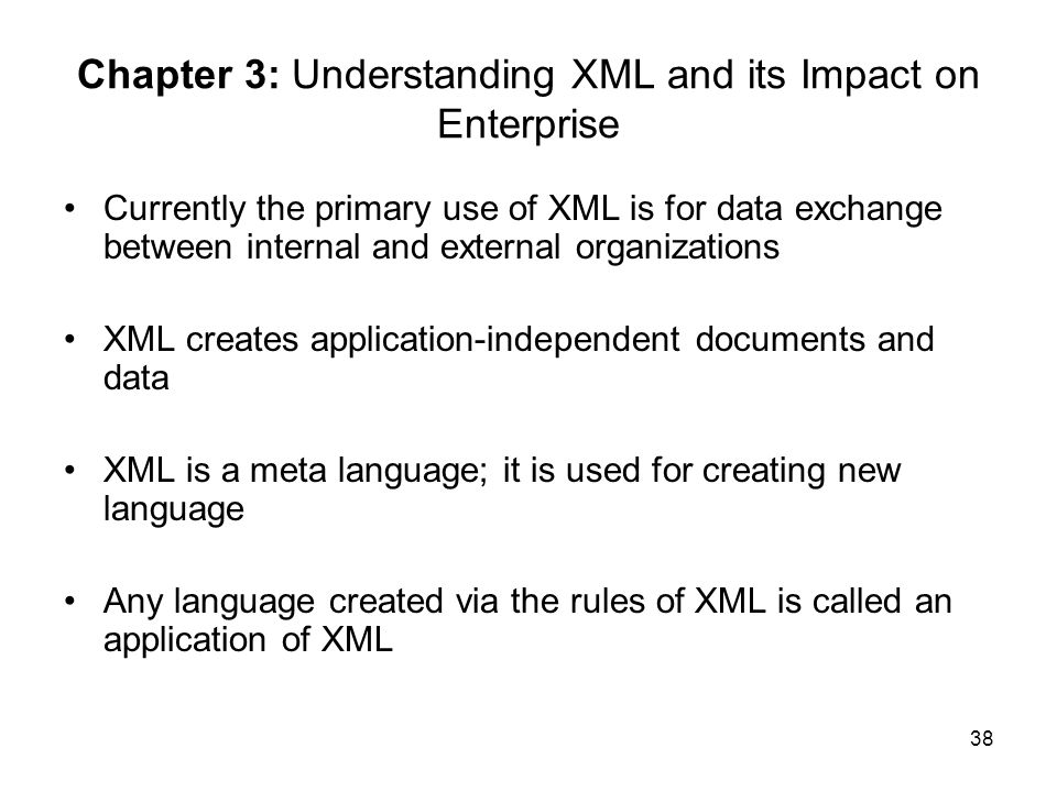 Chapter 3: Understanding XML and its Impact on Enterprise