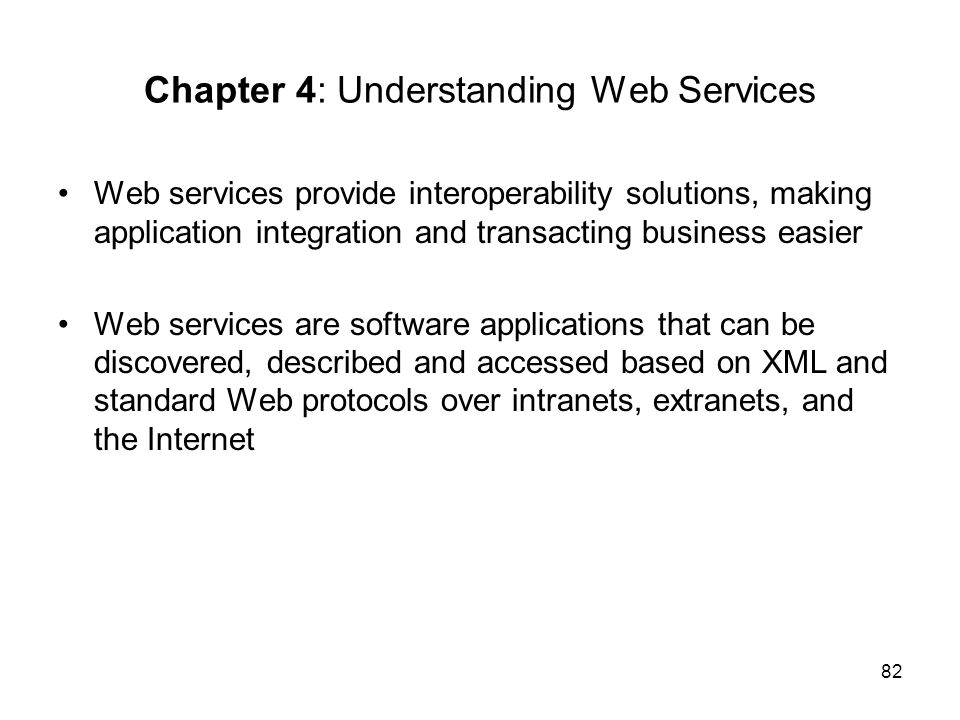 Chapter 4: Understanding Web Services