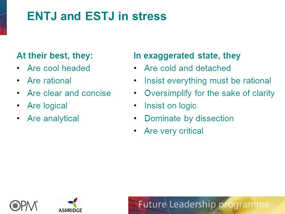 Type And Stress Our Type Preferences Can Give Us Information About How We Will React In Times Of Stress This Can Be Valuable To Identify The Early Signs Ppt Video Online