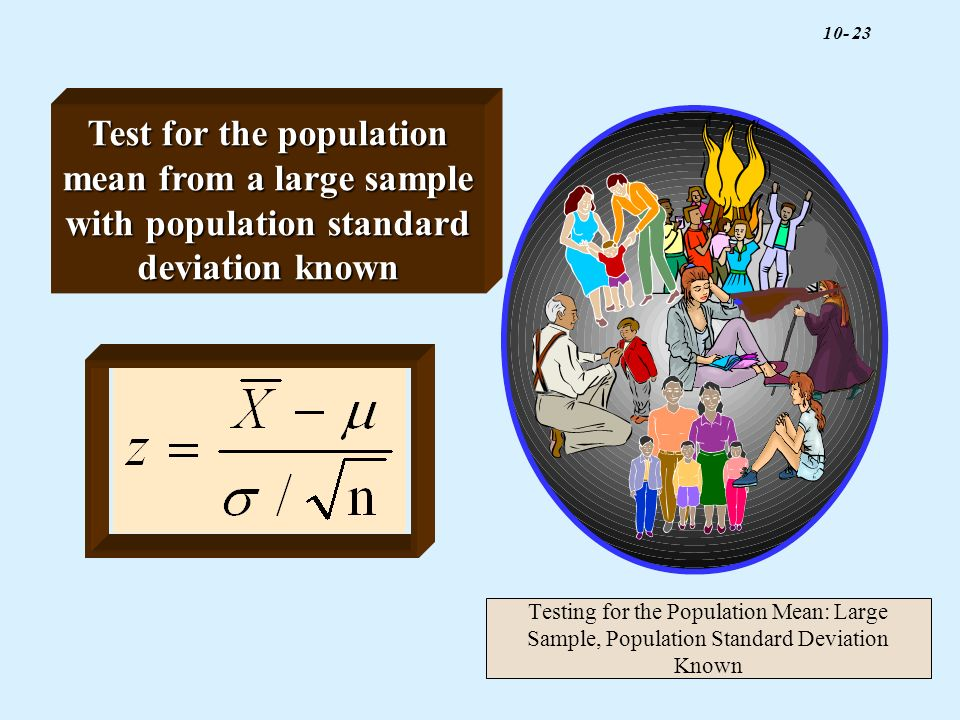 Test for the population mean from a large sample with population standard deviation known
