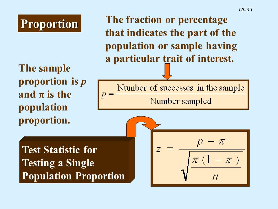 The fraction or percentage that indicates the part of the population or sample having a particular trait of interest.