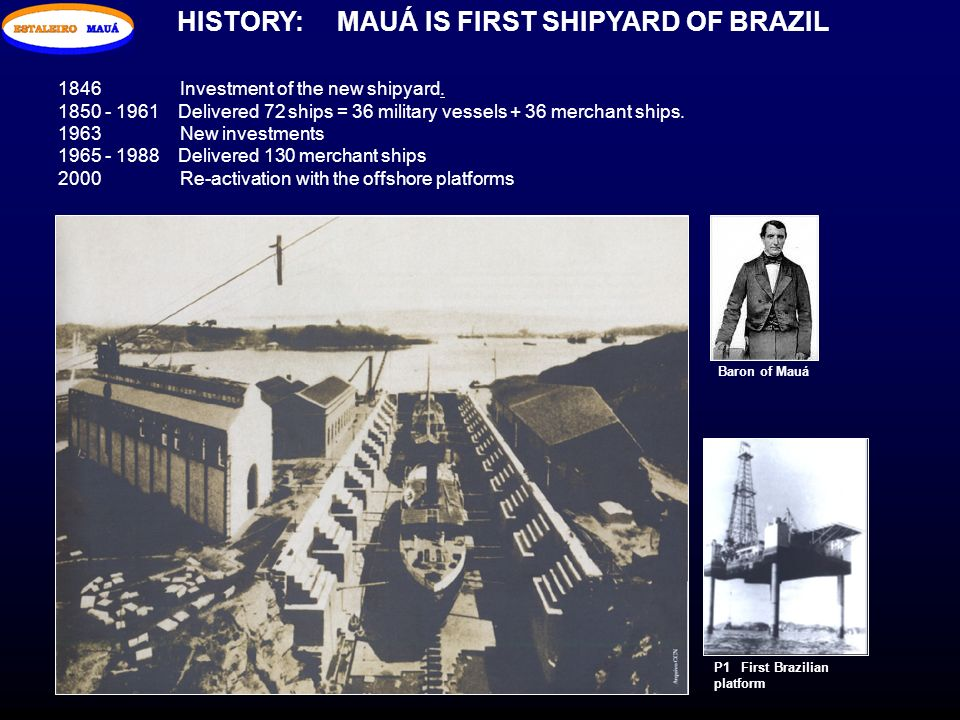 HISTORY: MAUÁ IS FIRST SHIPYARD OF BRAZIL