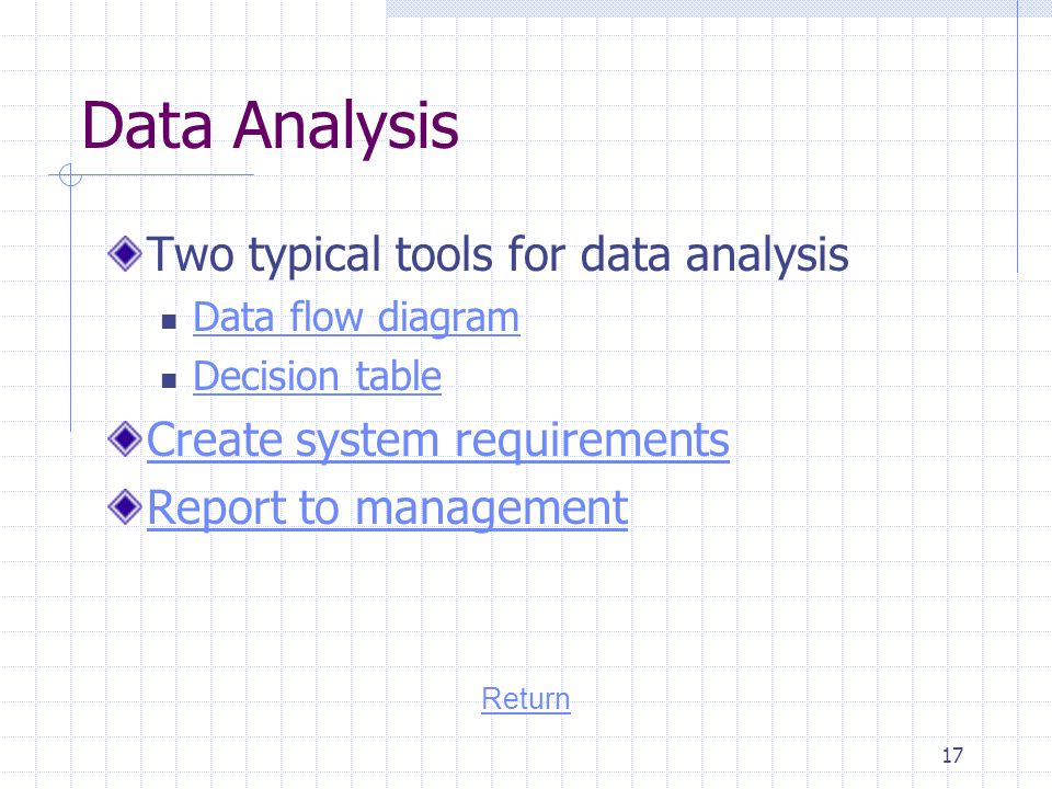 Data Analysis Two typical tools for data analysis
