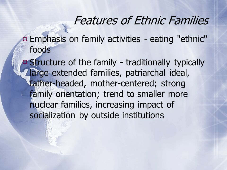 features of a nuclear family