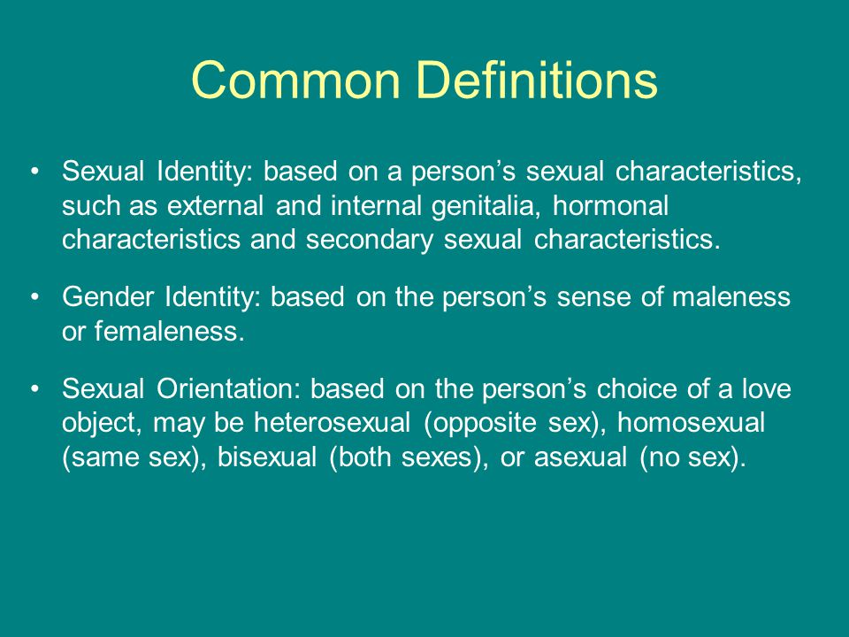 Common gender sexual orientation