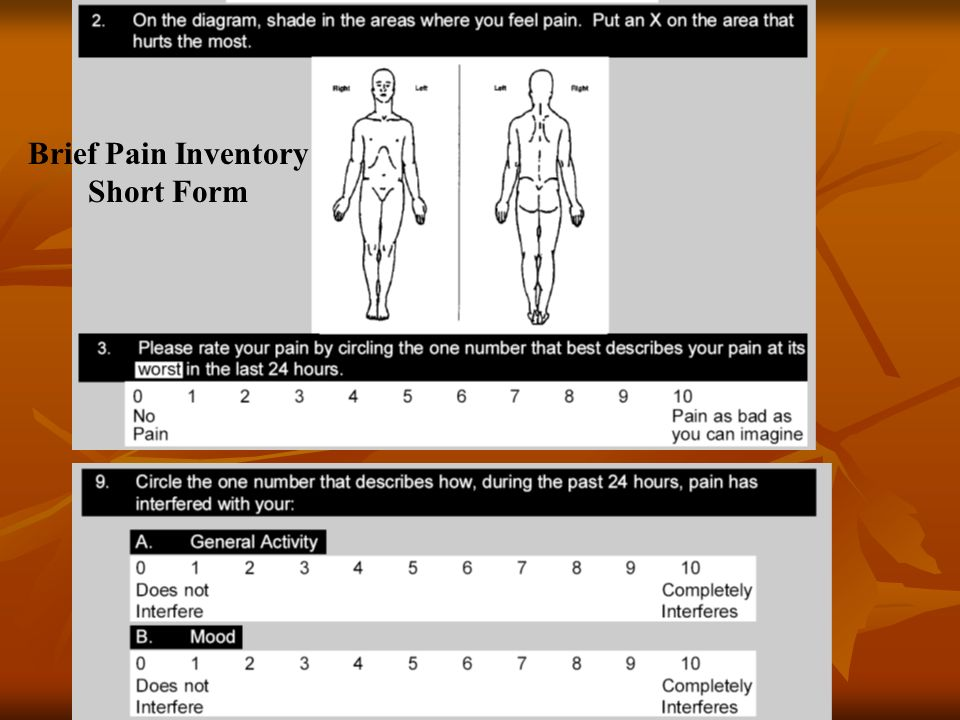 Brief Pain Inventory Short Form
