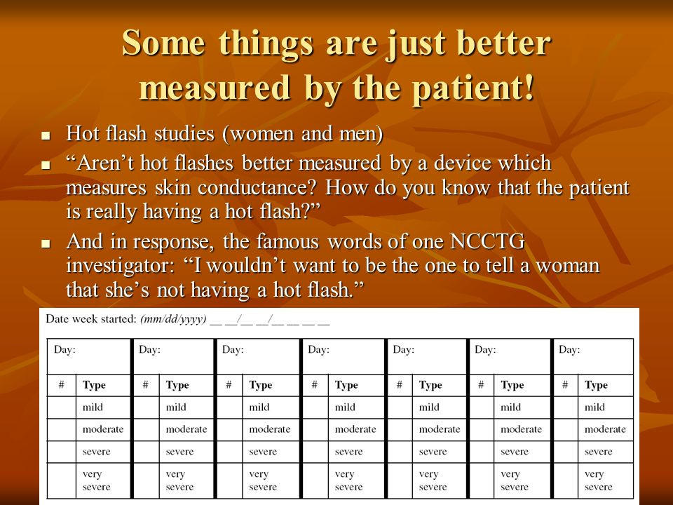 Some things are just better measured by the patient!