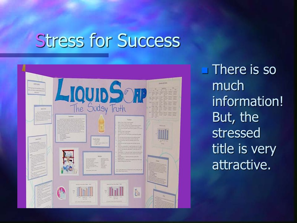 Stress for Success There is so much information! But, the stressed title is very attractive.