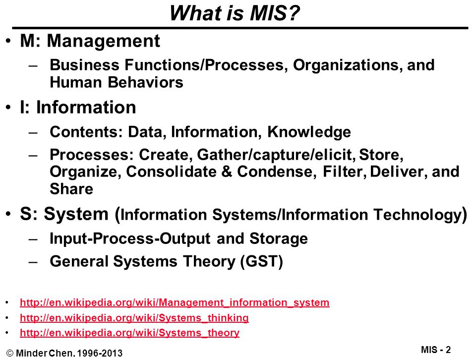 Introduction To Management Information Systems Mis Ppt