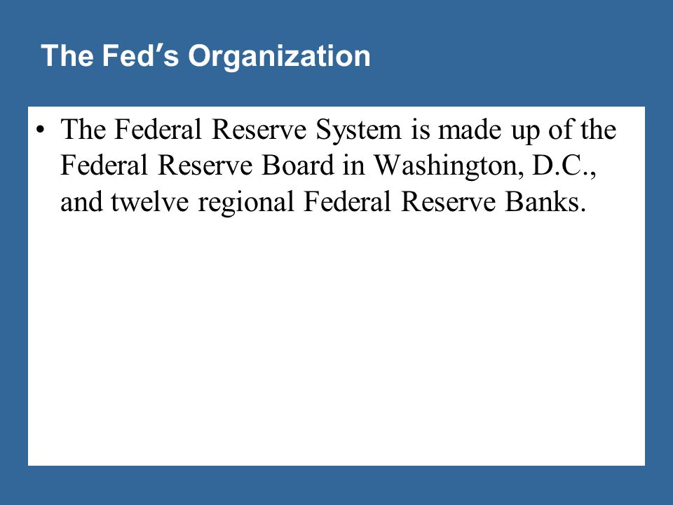 The Fed's Organization