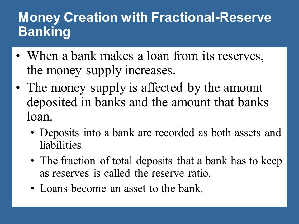 Banking Money Creation with Fractional-Reserve