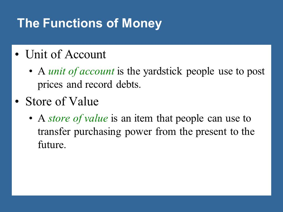 The Functions of Money Liquidity is the ease with which an asset can be converted into the economy's medium of exchange.