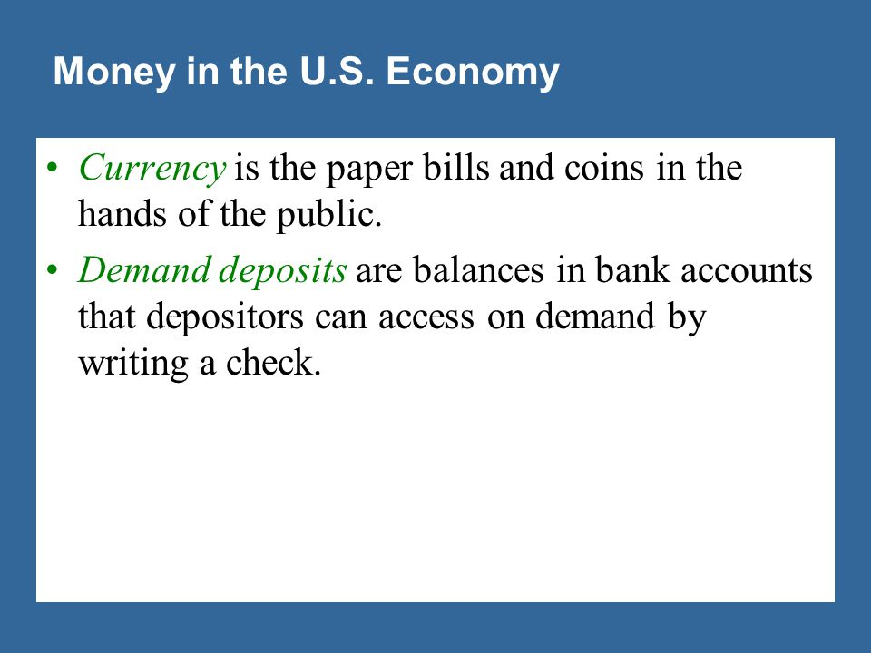 Figure 1 Two Measures of the Money Stock for the U.S. Economy