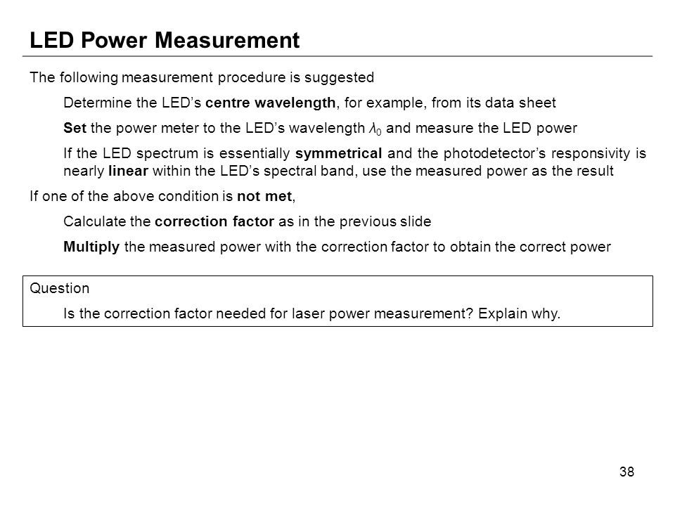 Chapter Two – Optical Power Measurement - ppt download