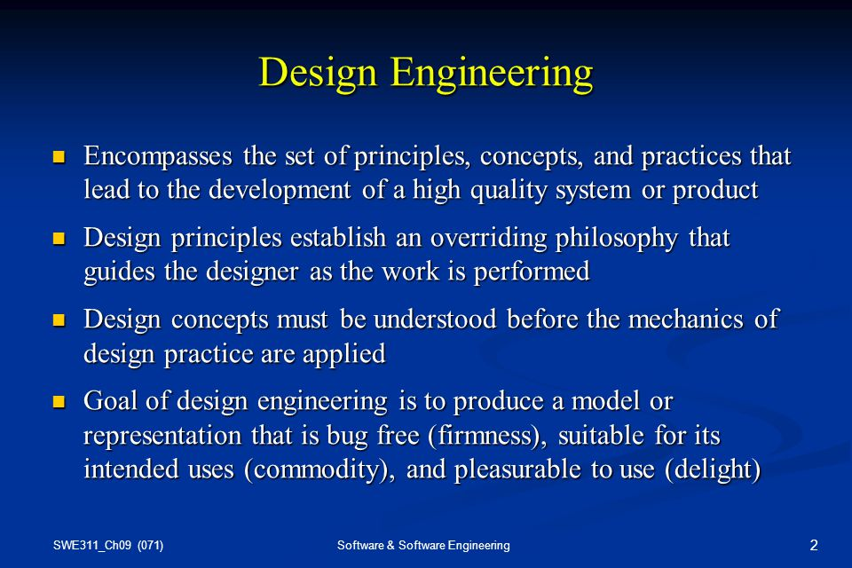 Chapter 9 Design Engineering Ppt Video Online Download
