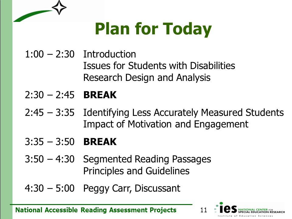 Plan for Today 1:00 – 2:30 Introduction